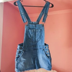 F21 Overall Shorts